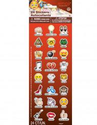 24 Emoji™ Sticker selbstklebend bunt
