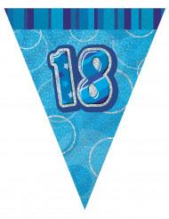 Wimpelgirlande blau 18 Jahre, 2,74cm