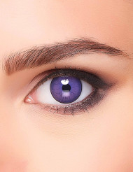 Zauberer-Kontaktlinsen mit Blitzen lila-schwarz