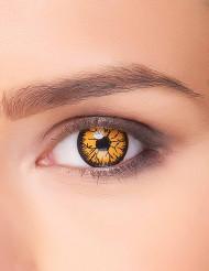 Monster-Kontaktlinsen Goblin orange-schwarz