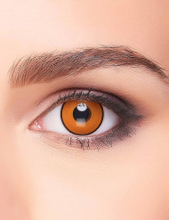 Krähen-Kontaktlinsen orange-schwarz