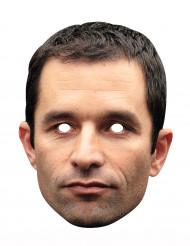 Benoît Hamon Pappmaske Politikermaske hautfarben-schwarz