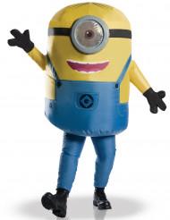 Aufblasbares Minions-Kostüm für Erwachsene, gelb-blau