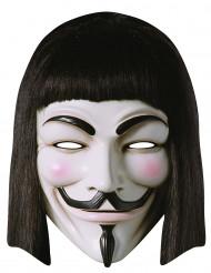 Kostümaccessoire Maske V wie Vendetta schwarz-weiss