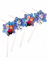 Die Eiskönigin™ Strohhalme Disney-Lizenzartikel 6 Stück lila-blau-bunt 23,5cm