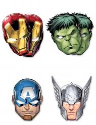 Kostümaccessoire Kinder-Augenmasken Avengers™ 4 Stück rot-grün-blau-silber