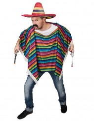 Mexikanischer Poncho Wilder Westen Kostüm-Accessoire bunt