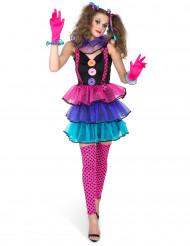 Clown-Damenkostüm