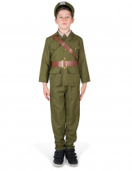 Historisches Soldatenkostüm Offizier-Kinderkostüm grün-braun
