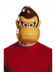 Nintendo™ Donkey Kong Halbmaske für Erwachsene braun-beige-weiss