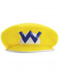 Wario™ Mütze Nintendo™ Lizenzartikel gelb-weiss-blau