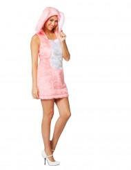 Hasen-Kostüm für Damen rosa
