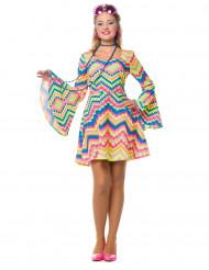 Disco-Kostüm für Damen rosa-blau