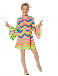 Disco-Kostüm für Mädchen rosa-blau
