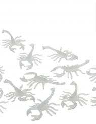 Halloween Dekoration Skorpione phosphoreszierend 12 Stück weiss 7x4cm