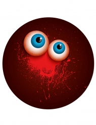 Halloween Pappteller Augen 6 Stück dunkelrot 17cm