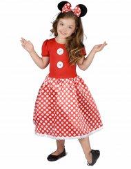 Süsse Maus Kinderkostüm für Mädchen rot-weiss-schwarz