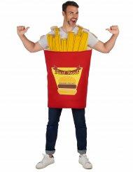 Pommes-Kostüm Frittenkostüm rot-gelb