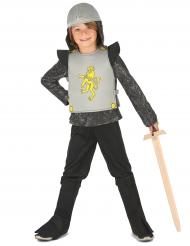Kleiner Löwenritter Mittelalter Kinderkostüm schwarz-grau-gelb