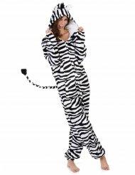 Zebra-Damenkostüm Karneval-Tierkostüm weiss-schwarz