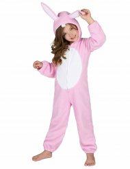 Niedliches Häschen-Kostüm Hasen-Kinderkostüm rosa-weiss
