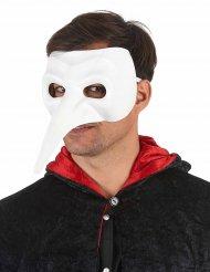 Venezianische Pantalone-Maske Kostüm-Accessoire weiss