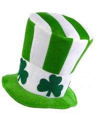 St. Patrick's Day Zylinder Kostümaccessoire grün-weiss