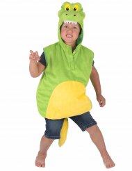 Lustiges Krokodil Tierkostüm für Kinder grün-gelb