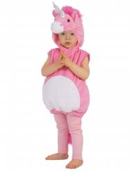 Niedliches Einhorn Kinderkostüm rosa-weiss