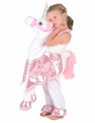 Einhorn-Kinderkostüm weiss-rosa