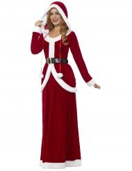 Weihnachtsfrau Damenkostüm mit Kapuze