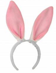 Hasenohren Bunny Haarreif Kostüm-Accessoire weiss