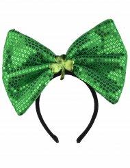 St. Patricks Day Haarreif mit Schleife und Kleeblatt Kostüm-Accessoire grün
