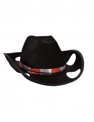 Cowboy-Hut mit Becherhaltern schwarz