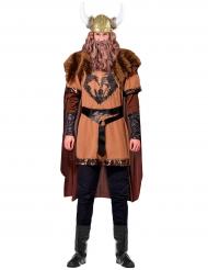 Wikingerhäuptling-Kostüm Wikingerkrieger-Herrenkostüm braun