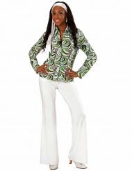 Groovy 70er Jahre Shirt mit Wellenmuster für Damen