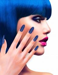 Fingernägel glänzend 12 Stück blau