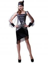30er Jahre Kostüm für Damen silber