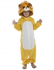 Putziger Löwe Kostüm für Kinder orange-weiss