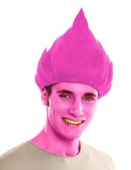 Troll-Perücke für Erwachsene rosa