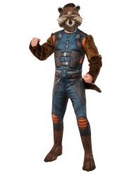 Rocket Raccoon™-Kostüm Guardians of the Galaxy 2™-Lizenzkostüm blau-braun