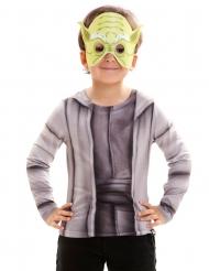 Langärmliges Yoda-Kindershirt Star Wars™-Oberteil für Kinder Lizenzartikel grau