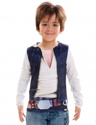 Han Solo Longsleeve für Kinder Star Wars™-Shirt weiss-blau