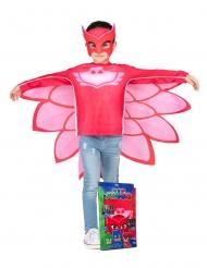 PJ Masks™-Kinderkostüm Eulette Lizenzkostüm rot-rosa