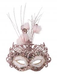 Glitzer-Maske für Damen rosa