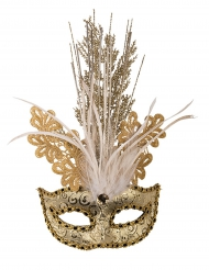 Maske mit Goldbrokat für Damen