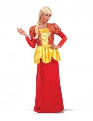 Kaiserin-Kostüm Karneval-Damenkostüm rot-gelb-gold