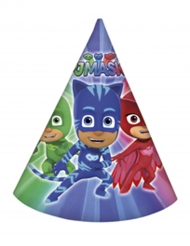 PJ Masks™-Partyhüte 6 Stück blau-rot-grün