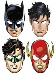 Justice League™ Superhelden-Partymasken Lizenzware 8 Stück bunt