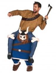 Wikinger Carry-Me-Kostüm blau-braun